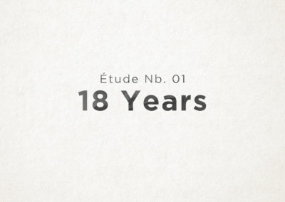 Étude Nb. 01: 18 Years